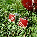 Cricket Cufflinks (Square)