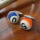 Round Pool Ball Cufflinks