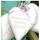 Silk 'Bridesmaids' Heart