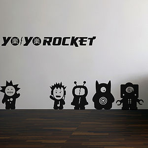 Yo Yo Rocket Wall Sticker Set - decorative accessories