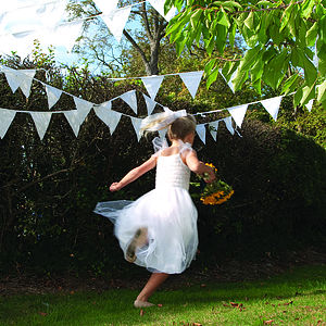 White Cotton Bunting For Weddings - outdoor decorations