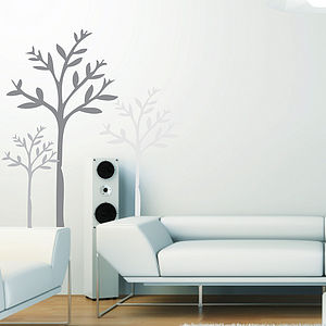 Set of Three Tree Wall Stickers - wall stickers