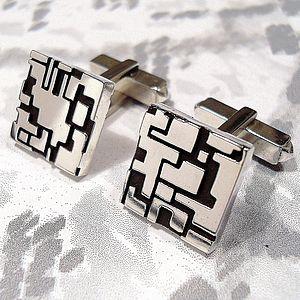 Cityscape Cufflinks - men's jewellery