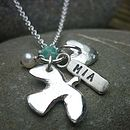 Personalised Dove Dedication Necklace