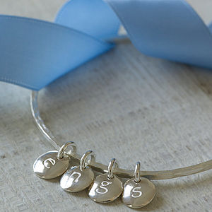 Personalised Silver Family Bangle - bracelets & bangles