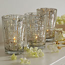 Set Of Three Antique Style Votives