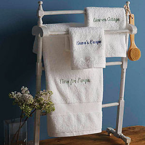 Personalised Cotton Towel - towels & bath mats