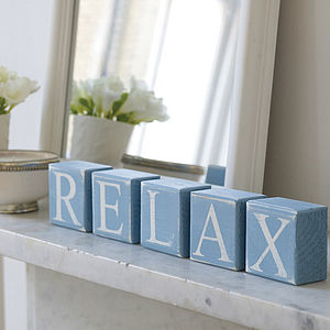 Bathroom Shelf Blocks - room decorations