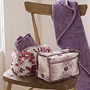 Wash Bag With Frilled Trim