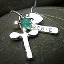 Personalised Angel Dedication Necklace