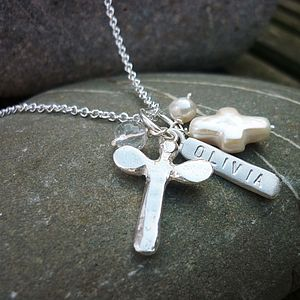 Personalised Christening Dedication Necklace - children's jewellery