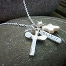 Personalised Christening Dedication Necklace