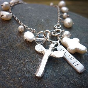 Personalised Christening Dedication Bracelet - children's jewellery