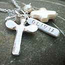 Christening necklace detail
