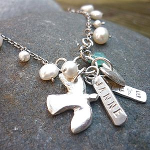 Personalised Wedded Bliss Dedication Bracelet - necklaces & pendants