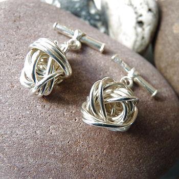 Silver Coil Cufflinks