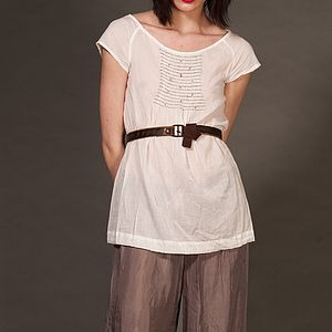 Cotton Voile Francesca Blouse