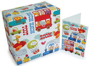 Children's Gift Wrap and Card Set - winter sale
