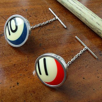 Round Pool Ball Tie Pins