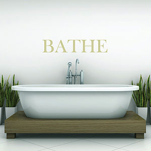 'Bathe' Wall Sticker - home decorating