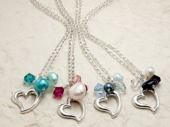Bish bosh becca open heart necklaces £25