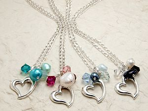 Silver Heart Necklace In Many Colours - bracelets & bangles
