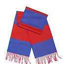 Folded red & blue scarf