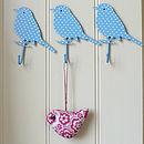 Blue spot bird hooks 1