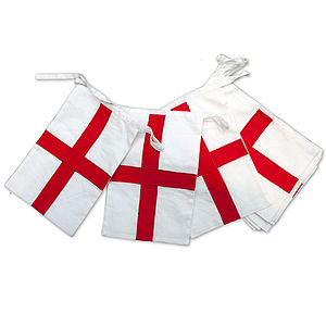 England St George Cross Cotton Bunting - children's room accessories