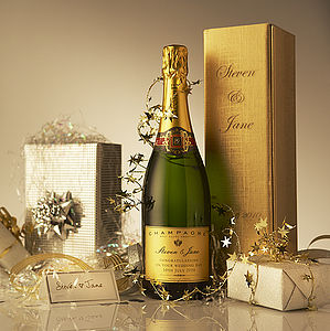 Personalised Wedding Champagne - drinks connoisseur