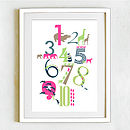 Numbers Print - Girls