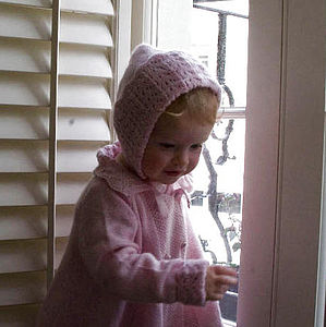 100% Cashmere Hand Knitted Sunshine Bonnet - children's accessories