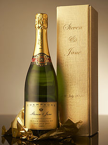 Personalised Christmas Champagne - practical & personalised