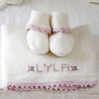 100% Cashmere Personalised Comfort Blanket