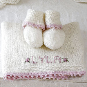 100% Cashmere Personalised Comfort Blanket - baby care