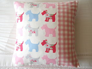 Scottie Dogs Cushion Cover - Various Colours - cushions