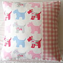 Scottie Dogs Cushion Cover - Various Colours