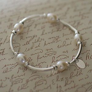 Katie's Silver and Pearl Bracelet