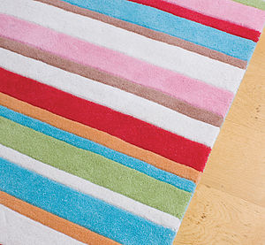 Kathy Striped Rug - children's room accessories