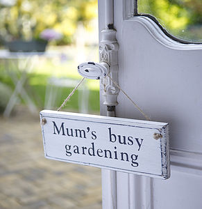 Personalised Wood Garden Sign