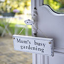 Personalised Vintage Wood Garden Sign