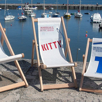 Recycled sailcloth deckchair for children