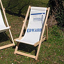 Blue recycled sailcloth children's deckchair