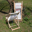 Red recycled sailcloth deckchair for children