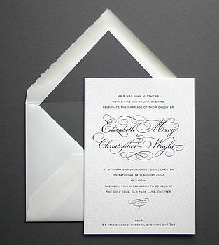 Reynolds personalised letterpress invitation