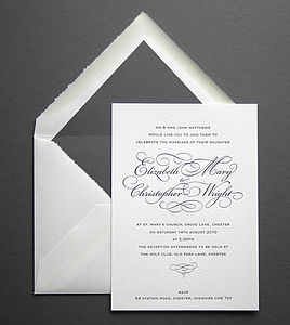 'Reynolds' Letterpress Wedding Stationery
