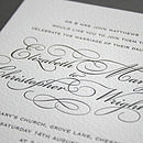Reynolds letterpress invitation