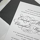 Reynolds letterpress invitation