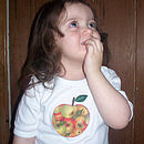 Apple dense baby lap t shirt