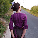 Silk Dolly Blouse back